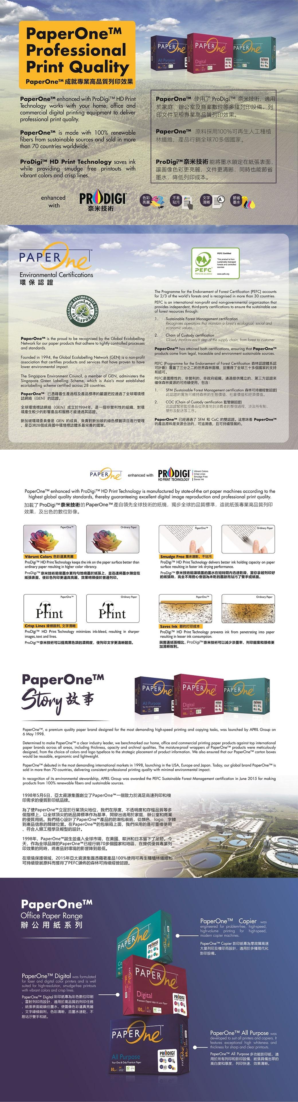 PaperOne กระดาษถ่ายเอกสารเอนกประสงค์ ขนาด A3 80แกรม (1 แพ็ค)