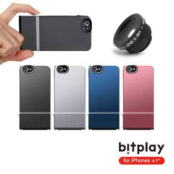bitplay SNAP!6 for iPhone6(4.7吋)金屬質感相機快門手機殼+廣角微距鏡頭組