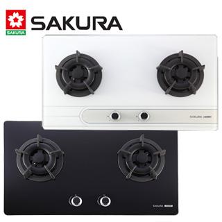 櫻花 SAKURA-二口玻璃節能檯面爐 G-2522G 桶裝瓦斯