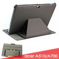 ACER ICONIA Tab A510 A700 平板電腦熱定型皮套 保護套 斜布紋可手持斜立
