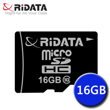 RiDATA 錸德 MicroSDHC 16GB Class10 記憶卡