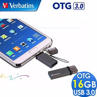 Verbatim 威寶 16GB OTG TINY TITANIUM USB3.0 雙介面高速隨身碟