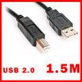 Bravo-u USB 2.0 傳真機印表機連接線/A公對B公-黑色(1.5米)