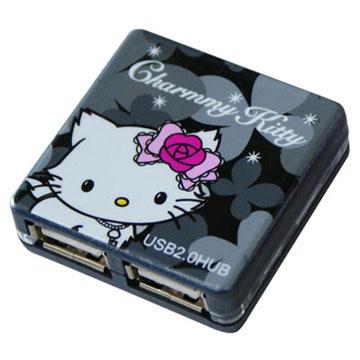 《迷人黑》Charmmy Kitty USB2.0 4PORT HUB 高速集線器