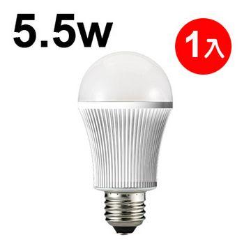 日本STANLEY 5.5W LED燈泡晝白光450流明 一入 【三年保固 】