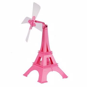 YASE USB巴黎鐵塔風扇(粉紅)