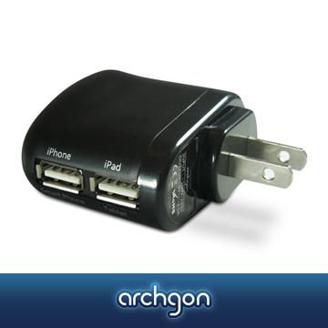 archgon 旅充 (黑色)– 電源轉換器 P-ADP-0048-KA【亞齊慷】