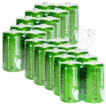TOSHIBA 東芝無鉛綠碳鋅電池 1號一盒(20顆)