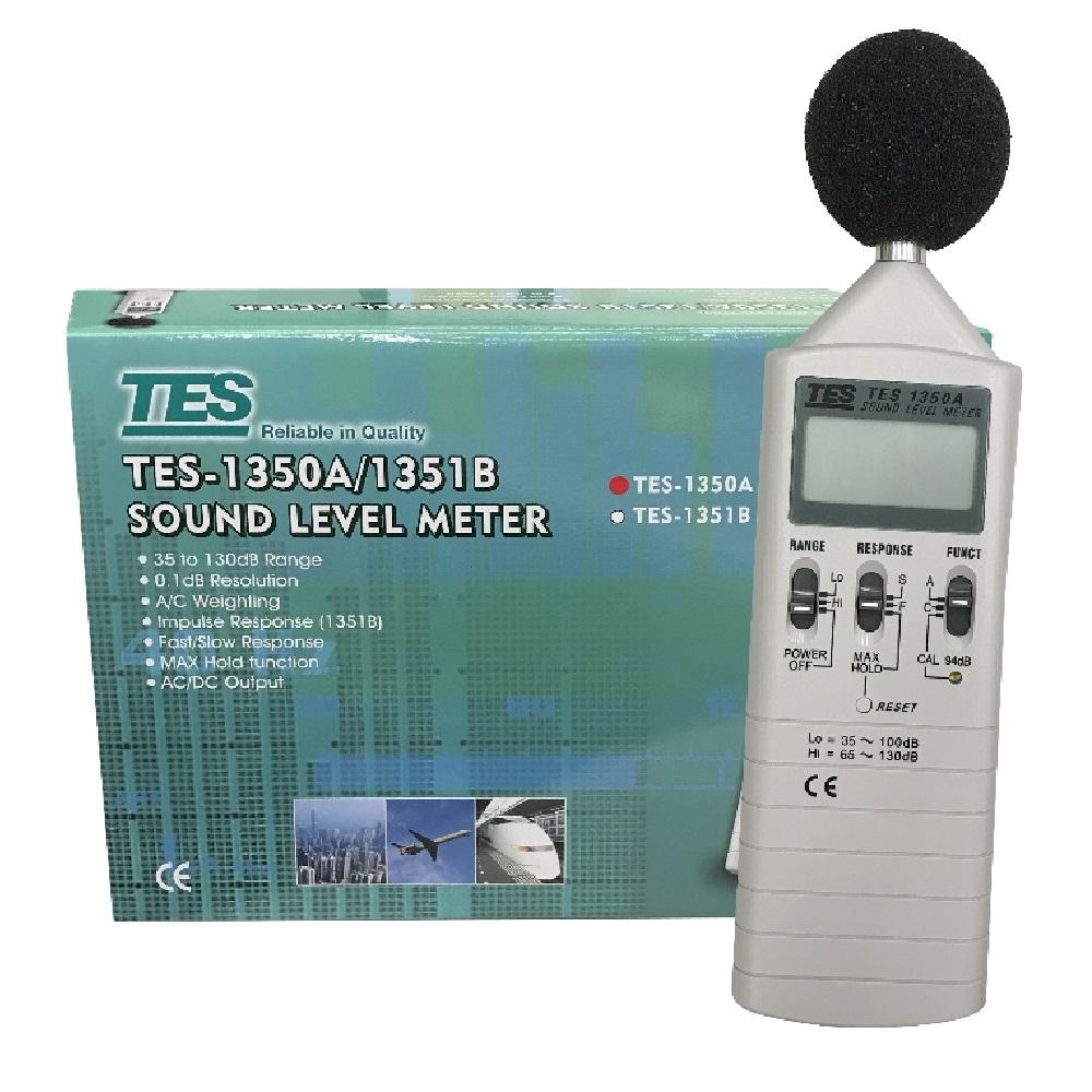 TES泰仕 TES-1350A 數位式噪音計