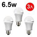 日本STANLEY 6.5W LED燈泡晝白光550流明 三入 【三年保固 】