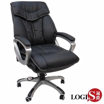 邏爵家具~新尊貴喬治牛皮主管椅/辦公椅/電腦椅/視聽椅LOG-2891