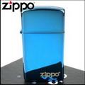 【ZIPPO】美系~LOGO字樣打火機~超質感Sapphire藍寶色鏡面(窄版)