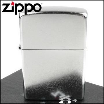【ZIPPO】美系~街頭風鍍鉻~銀色霧面打火機(寬版)