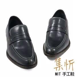 極致渲染【集忻t.star‧MIT台灣手工鞋】極品牛皮 經典款 樂福鞋 『黑色』TF-6027