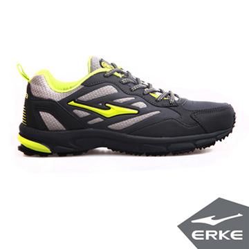 ERKE爾克-男運動常規慢跑鞋-碳灰/青竹綠