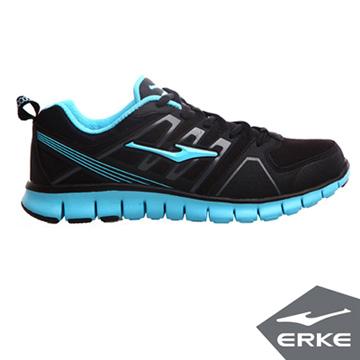 ERKE爾克-男運動綜訓慢跑鞋-正黑/河藍
