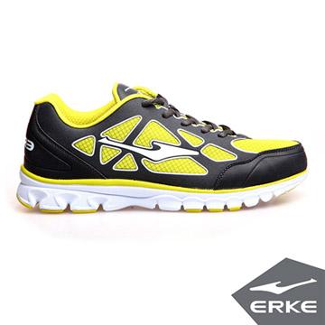 ERKE爾克-男運動綜訓慢跑鞋-碳灰/果綠