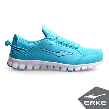 ERKE爾克-女運動健身慢跑鞋-河藍