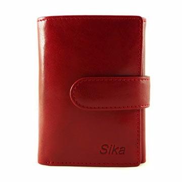 Sika - 義大利時尚真皮三折小皮夾A8280-04 - 魅惑紅