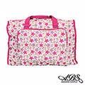 ABS愛貝斯 日本防水摺疊旅行袋 可加掛上拉桿(白底花漾)66-001D2