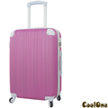 CoolOne 單身貴族直條紋24吋旅行箱(桃紅色)