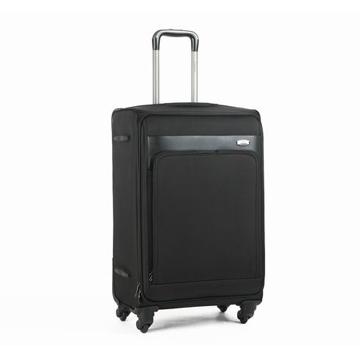 Diplomat外交官 黑色皮革拚接EVA軟殼27吋行李箱DH-907B