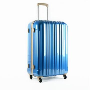 Diplomat外交官 鏡面高雅直線紋PC硬殼30吋行李箱(藍)TC-10104