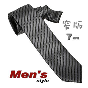 ☆ vivi 領帶 ☆手打(窄)7cm No515-1s灰