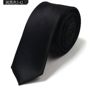 vivi領帶家族☆ 新款 韓版窄領帶 5CM (純黑色3-42)