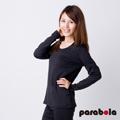 3M-Parabela發熱衣-女U領-黑色
