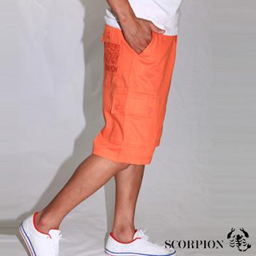【SCORPION】潮流後口袋刺繡短褲-共二色