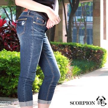 【SCORPION】MIT口袋圖騰刺繡牛仔褲