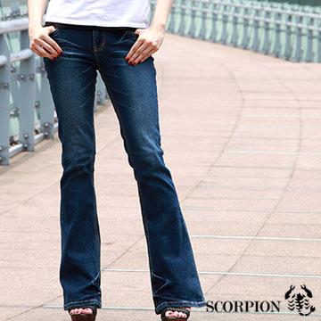 【SCORPION】MIT口袋金色飾扣伸縮喇叭褲