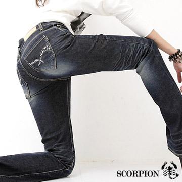 【SCORPION】MIT鑲鑽搶眼口袋伸縮喇叭褲
