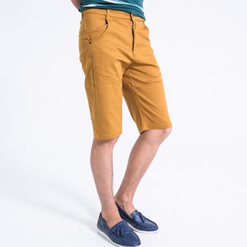 【SCORPION】斜邊切割造型休閒短褲-共二色