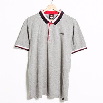 【SCORPION】潮流拼色領三扣POLO衫