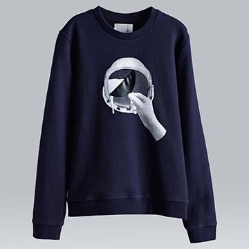 【摩達客】韓國進口設計品牌DBSW太空帽啤酒圓領長袖T恤