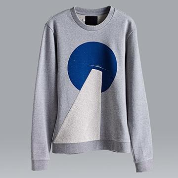 【摩達客】韓國進口設計品牌DBSW幽浮探照圓領長袖T恤