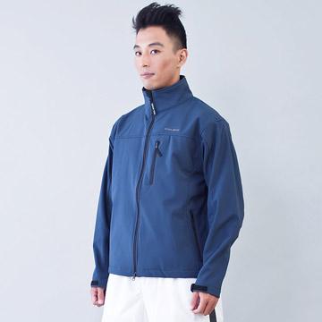 TECL-WOOD《96616》防風防水透氣保暖Soft Shell(軟殼)夾克(藍灰色)(男)