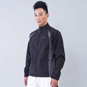 TECL-WOOD《96622》防風防水透氣保暖Soft Shell(軟殼)夾克(黑/灰色)(男)