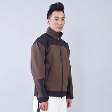 TECL-WOOD《96609》防風防水透氣保暖Soft Shell(軟殼)夾克(咖啡/黑)(男)