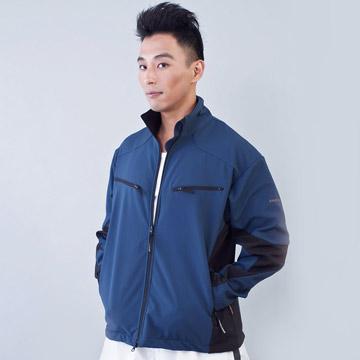 KINGTOUCH《96593》防風防水透氣保暖Soft Shell(軟殼)外套(藍灰/黑)(男)