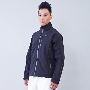 TECL-WOOD《96545》多功能防風防水透氣保暖Soft Shell(軟殼)外套(黑色)(男)