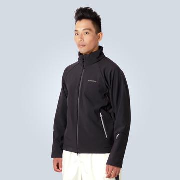TECL-WOOD《96576》防風防水透氣保暖Soft Shell(軟殼)夾克(黑色)(男)
