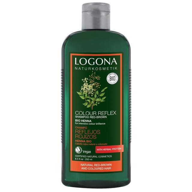 德國LOGONA諾格那 指甲花光澤護色洗髮精 (染後紅/ 棕色系頭髮護色適用) 250ml