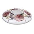 貝斯麗】madiggan手工彩繪玫瑰飛碟碗燭台(二個)