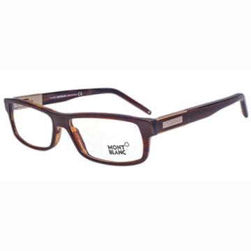 萬寶龍 MONTBLANC-時尚光學眼鏡(木紋咖啡)MB334