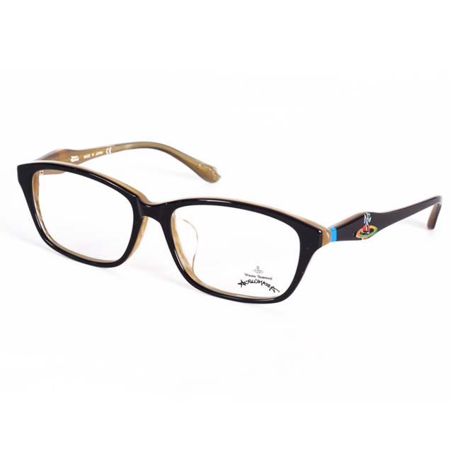 Vivienne Westwood 英國Anglomania英倫龐克土星環光學眼鏡(黑+透明黃) AN24303