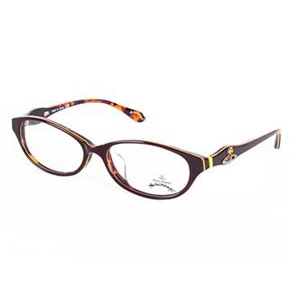 Vivienne Westwood 英國Anglomania英倫龐克土星環光學眼鏡(咖啡+琥珀)AN24803