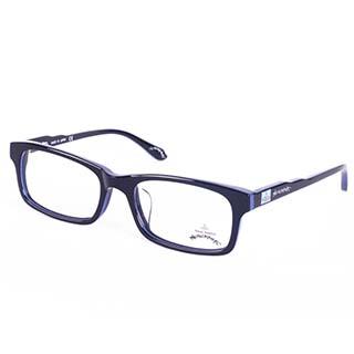 Vivienne Westwood 英國Anglomania英倫龐克方塊土星環光學眼鏡(黑+藍)AN25005
